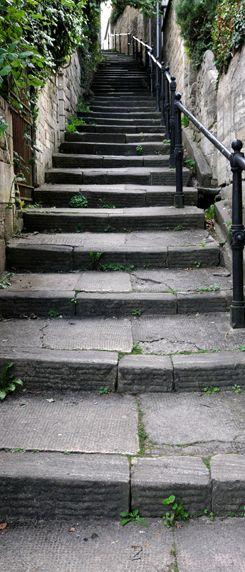 Stenen trap Deurposter - Outdoor