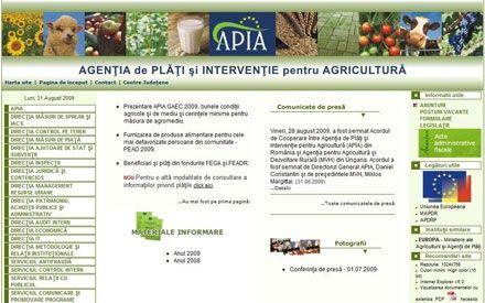 Calendarul platilor la APIA