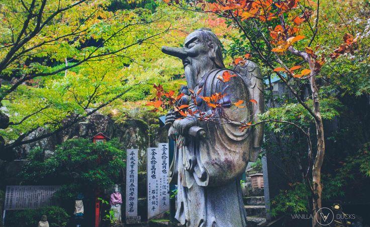 Statue au long nez, au japon. Pinnocchio