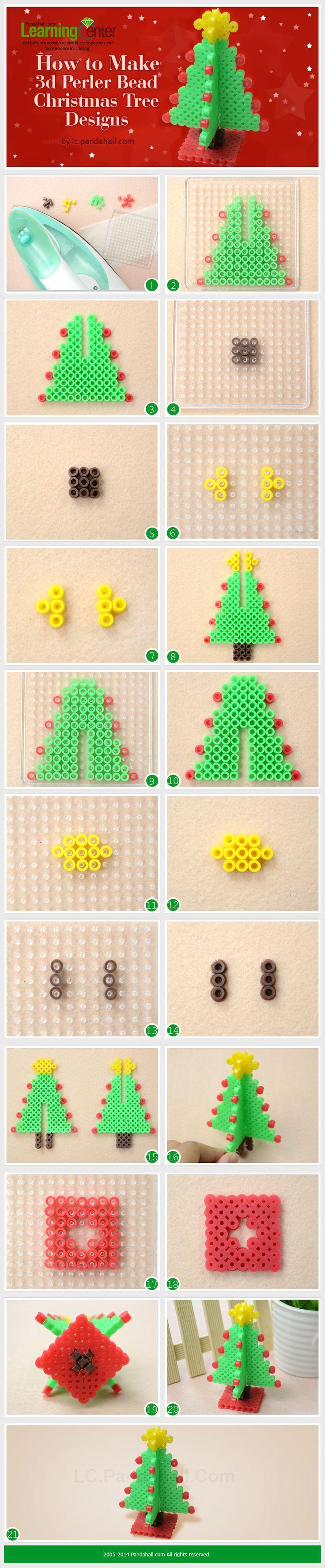 How to Make 3d Hama Bead Christmas Tree Designs