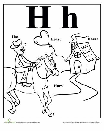 Words That Start With A-Z Coloring Pages | Education.com