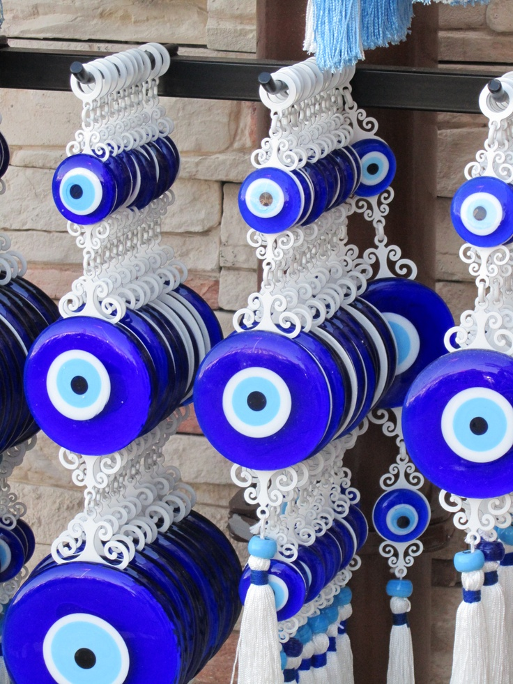 Kusadasi, Turquia, November, 2012 Market These charms to ward off the evil eye were popular throughout the Mediterranean. We saw many styles of these in Turkey.
