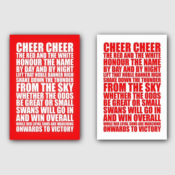 Sydney Swans club song on canvas AFL footy gift for die hard fans! Which colour do I pick?