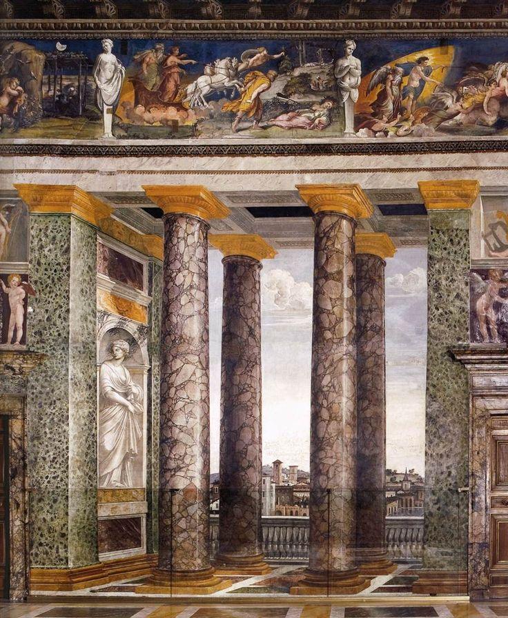 Baldassarre Peruzzi, Sala delle Colonne, Villa Farnesina, Roma Italy