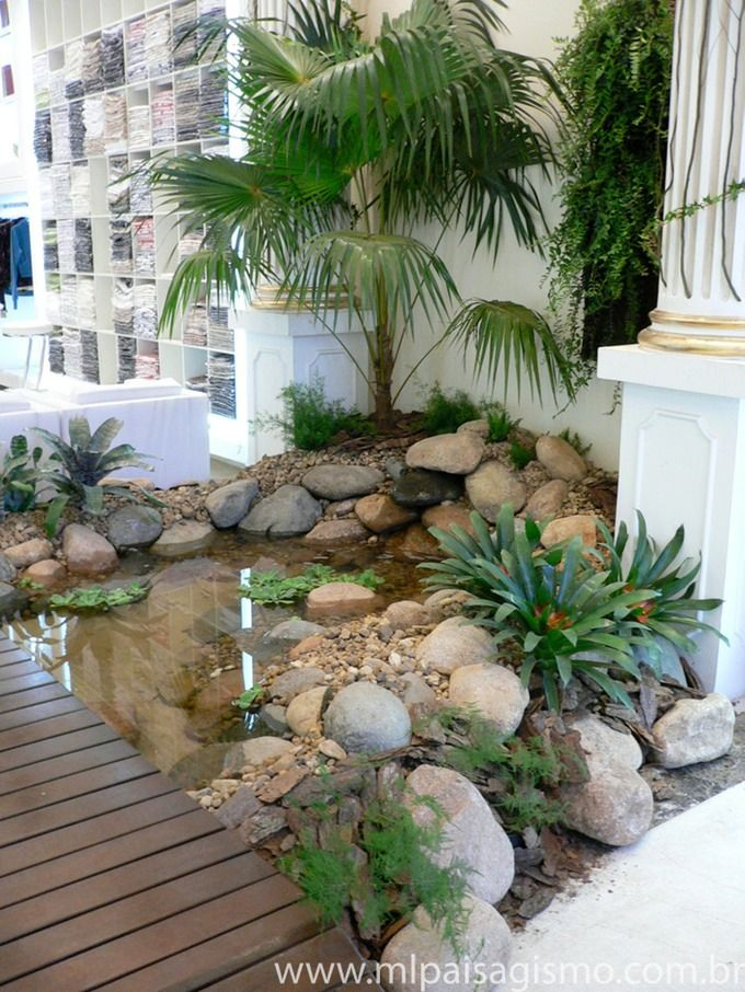 Lago artificial ml paisagismo jardim pinterest for Como criar peces koi