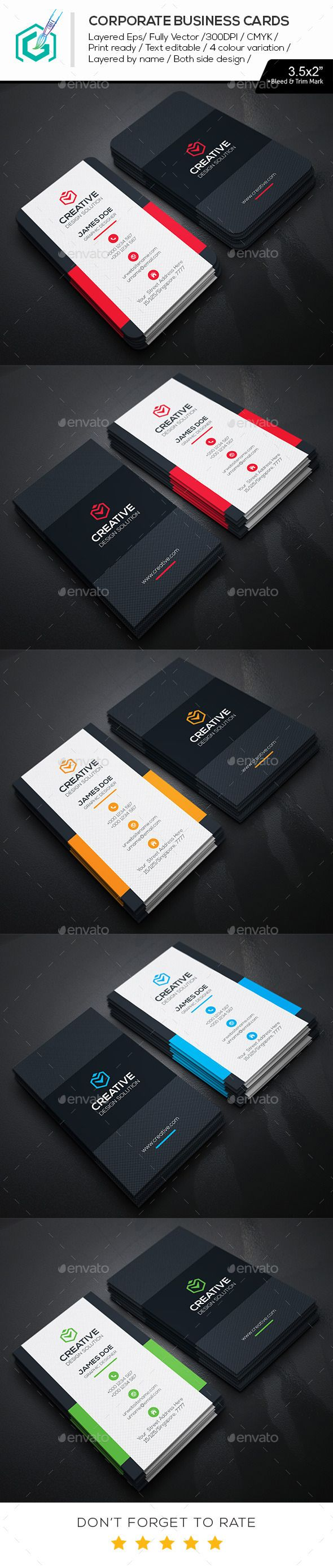 Creative Business Cards Template #design Download: http://graphicriver.net/item/creative-business-cards/11494277?ref=ksioks