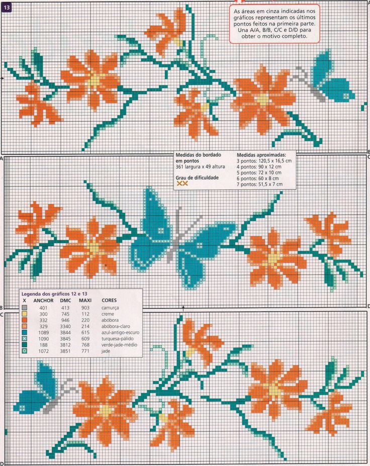 Layette Cross Stitch by Nubia Cortinhas: Flowers, flowers and more flowers
