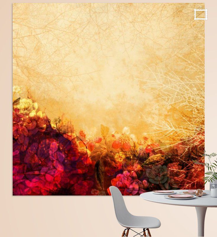 Neu in meiner Galerie bei OhMyPrints: LOVELY FLOWERS ARE KISSING A YELLOW FIELD II #kunst #art #blumen #malerei #abstraktion #piaschneider #ohmyprints
