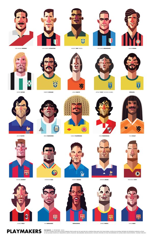 Playmakers by Daniel Nyari, via Behance