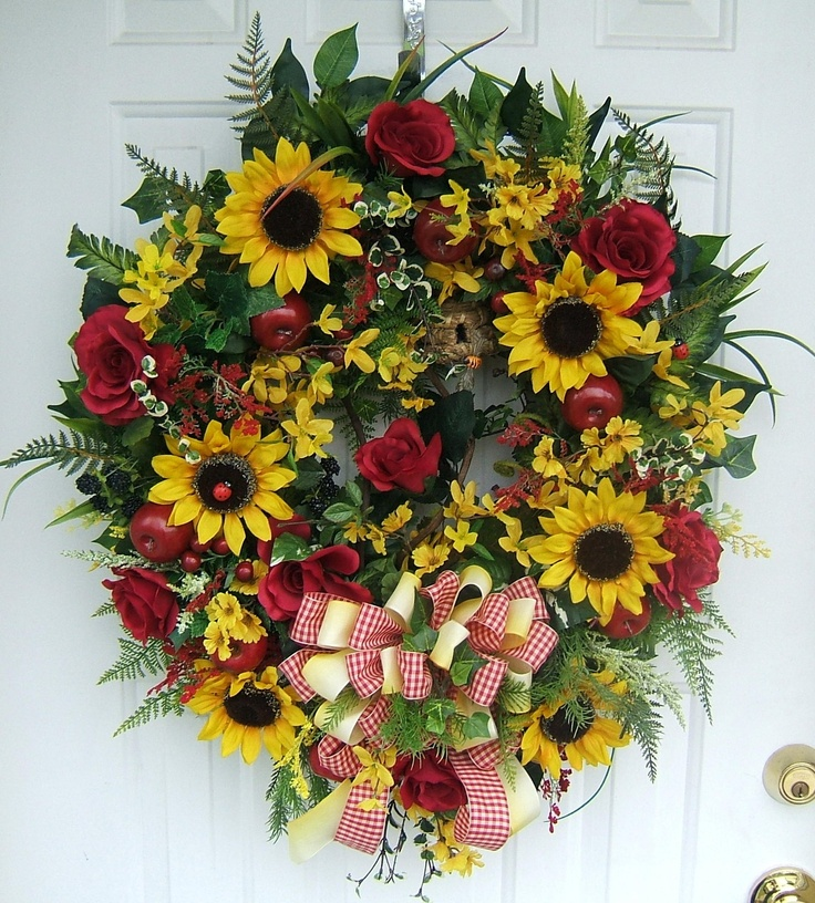 1000 images about summer wreaths on pinterest summer for Best place to buy wreaths