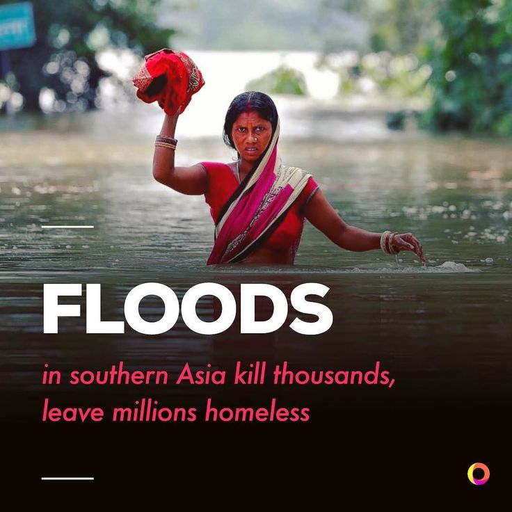 "Floods in India Bangladesh and Nepal have killed at least 1200 people and affected 17 million in India alone. Millions have been left homeless in one of the worst flood disasters in years. . Thousands of villages have been cut off from aid and have been low on stores of food and clean water for days. Huge areas of farmland have been destroyed. Matthew Marek of the International Federation of Red Cross stated ""Farmers are left with nothing not event with clean drinking water."" Many agencies…"