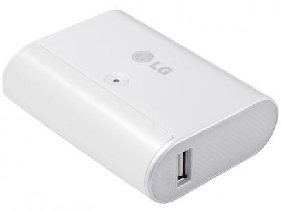 Carregador Portátil p/ Smartphones LG - LG PMC510WI com as melhores condições você encontra no Magazine Nivaldo. Confira!