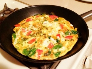 Tomato, Spinach & Feta Frittata~ I make my own version, but good ...