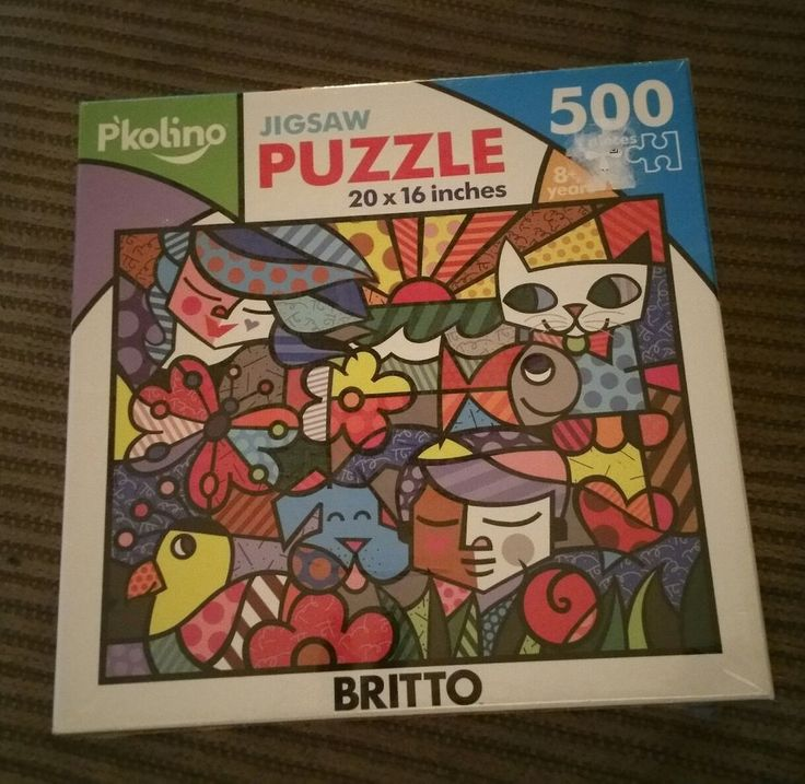 ROMERO BRITTO GARDEN JIGSAW  PUZZLE 500 PIECES  ** NEW ** SEALED | Toys & Hobbies, Puzzles, Contemporary Puzzles | eBay!