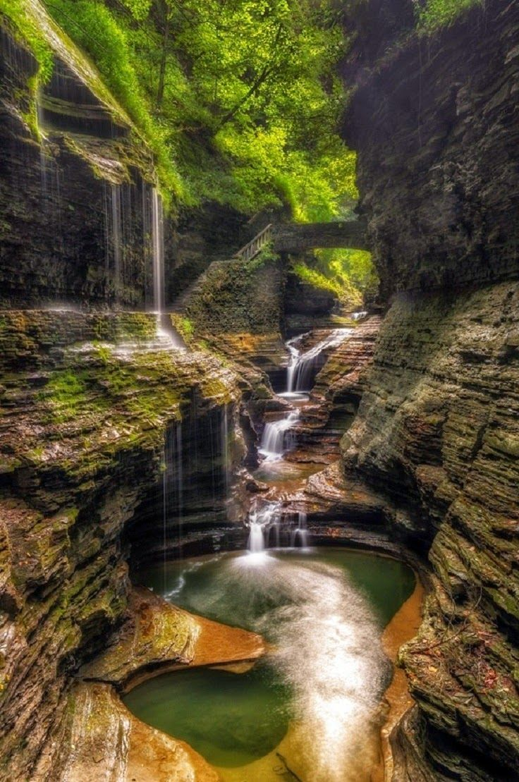 Rainbow Falls, Watkins Glen, New York