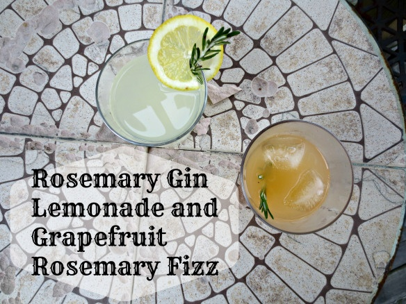 Gin Cocktails - Rosemary Gin Lemonade and Grapefruit Rosemary Fizz ...