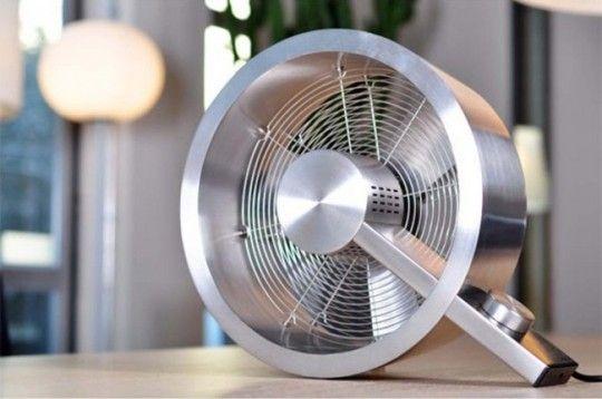 Fan_Ventilateur design en aluminium brossé Q
