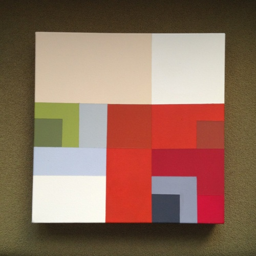 "Square Series #2   Acrylic on canvas 12""x12""Canvas 12 X12, Art Painting"