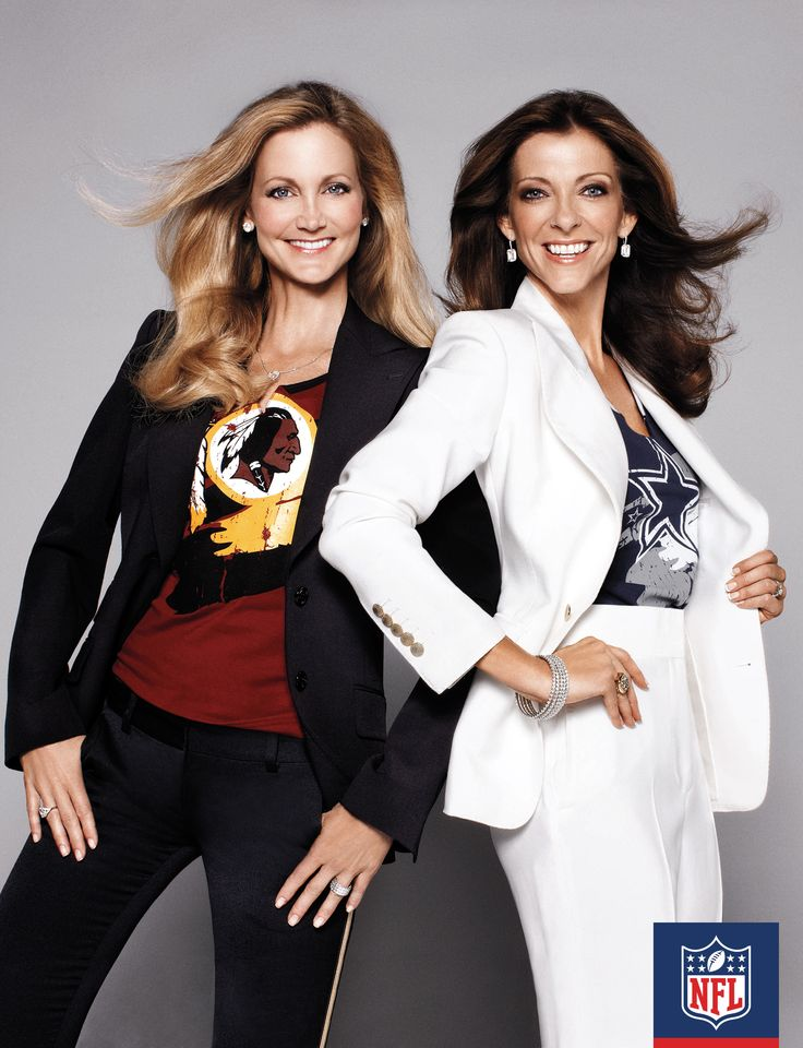 When it comes to the Washington Redskins, the word rivalry is synonymous with one team: the Dallas Cowboys. Tanya Snyder, wife of Washington Redskins owner Daniel Snyder, and Charlotte Jones Anderson, EVP brand management/president of charities and daughter of Dallas Cowboys owner Jerry Jones, stand off in these chic looks.