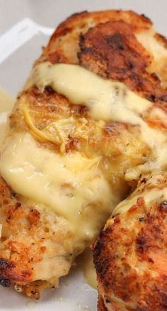 Buttery Baked Chicken Recipe - Very delicious and easy! Used bone-in chicken thighs. To speed things up, baked for half an hour at 425, added the sauce and then baked another half hour. Still moist and delicious!