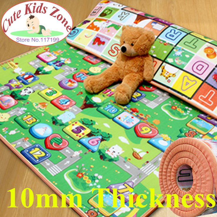 10mm Thickness Double-Site 180*150cm Baby Play Mat Fruit/Zillionaire  Child Beach Mat Picnic Carpet Baby Crawling Mat CM-0408