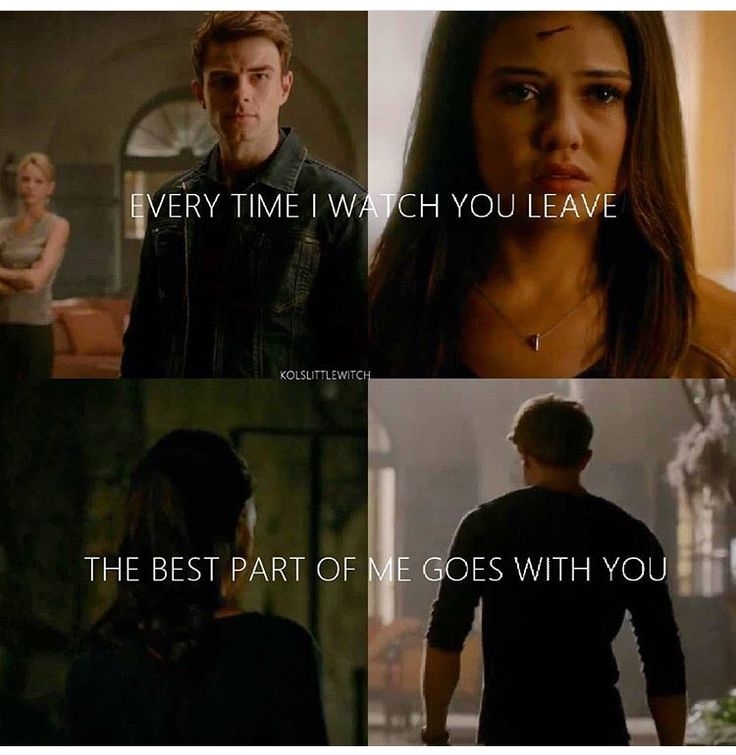 """#TO The Originals  Kol & Davina  """"Every time I watch you leave, the best part of me goes with you"""""""