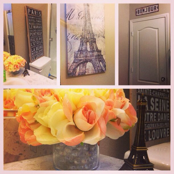 80 best paris theme bathroom images on pinterest bricolage craft and furniture redo for French themed bathroom accessories