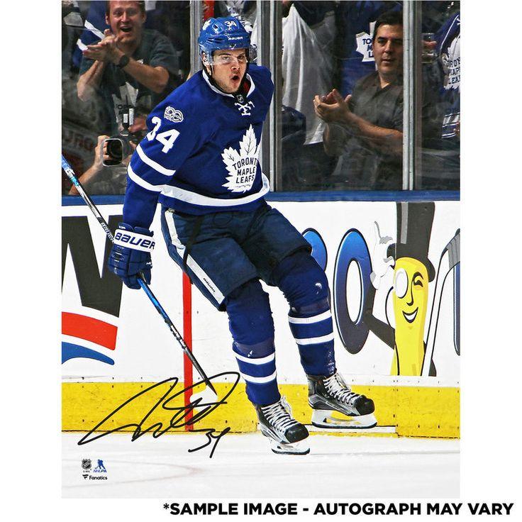 "Auston Matthews Toronto Maple Leafs Fanatics Authentic Autographed 8"" x 10"" Stanley Cup Playoffs Goal Celebration Photograph"