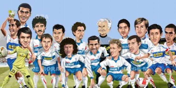 Caricatura historicos del Club Deportivo Universidad Catolica. Los que se ganaron el respeto de la hinchada