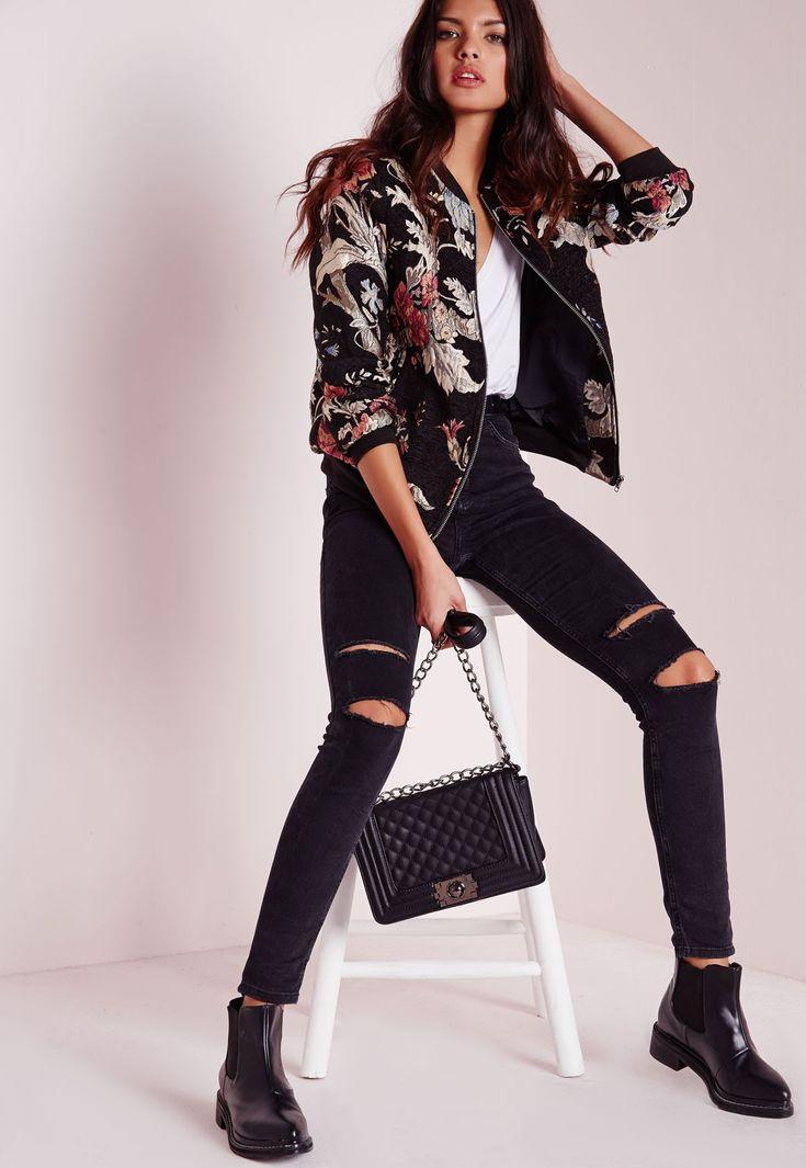 Best 25  Floral bomber jacket ideas on Pinterest | Floral jacket ...
