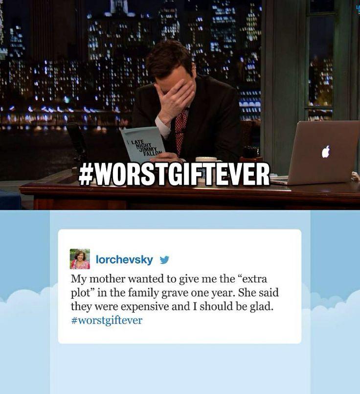 Jimmy Fallon #worstgiftever | Jokes | Pinterest | Jimmy ...