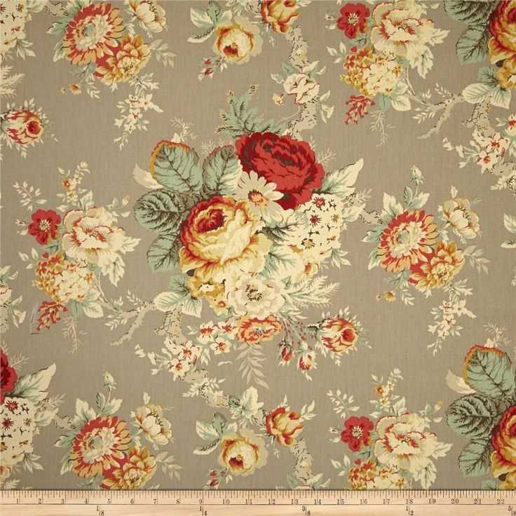 Waverly Sanctuary Rose Clay Fabric Waverly Fabric