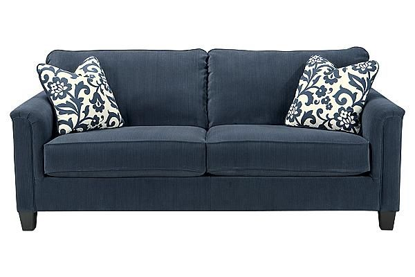 Ashley Furniture Keendre Indigo Sofa  Living Room Furniture