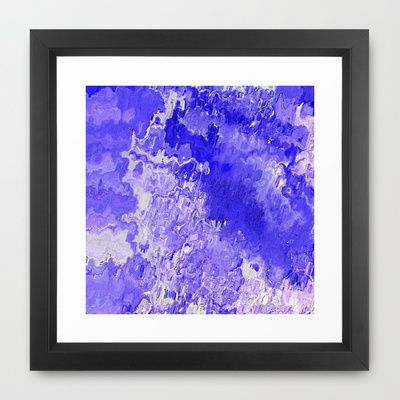 Abstract Painting 04 blue Framed Art Print by MehrFarbeimLeben - $32.00