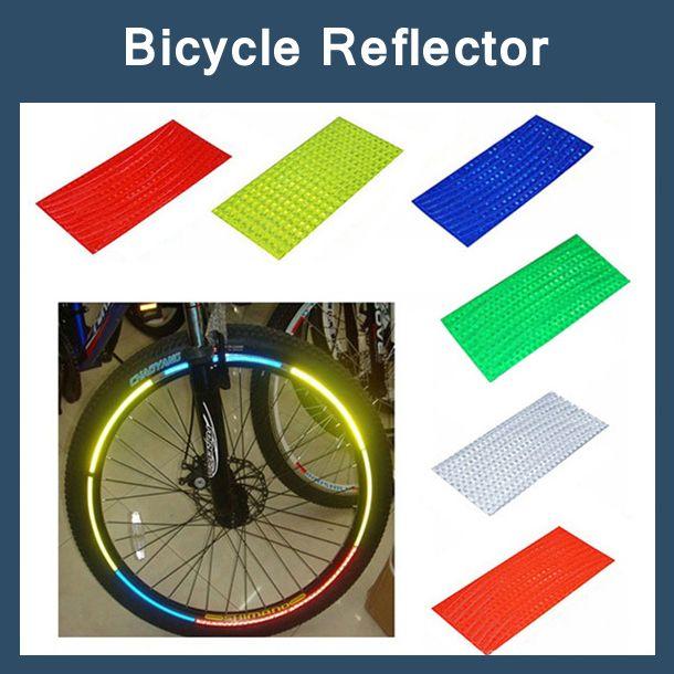 8 unids/pack Pegatinas Reflectantes Llanta De La Rueda de Cinta Decal Motocicleta Reflector de Bicicletas Bike Ciclismo de Seguridad Más Seguro velo