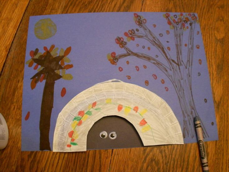 After reading jim arnosky 39 s story about a bear that for Hibernation crafts for kids