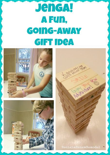 Reclaim, Renew, Remodel: Whatever Wednesday: Jenga, a Fun Going-Away Gift Idea