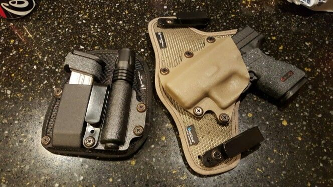 "My #EDC Stealth gear IWB neoprene/kydex holster Springfield XD Subcompact Compact 3"" and #Stealthgear IWB magazine and flashlight holster."