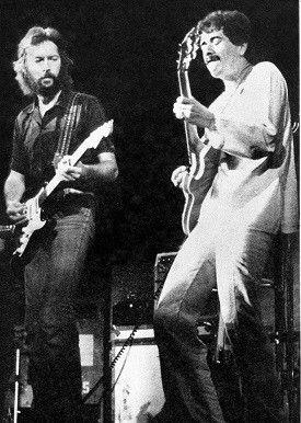 1975 on tour with Santana