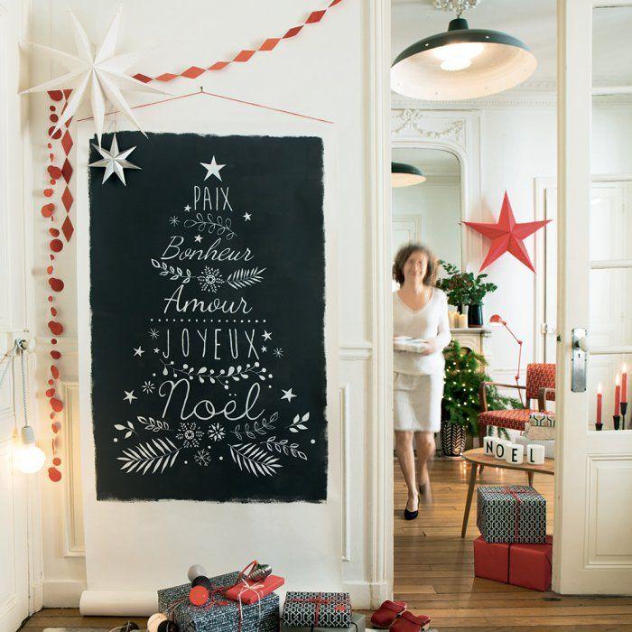 DIY: un sapin de Noël mural