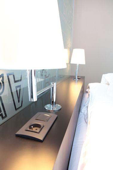 tete de lit avec eclairage