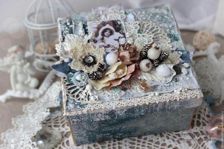 Купить Подарочная коробочка - Скрапбукинг, коробочка, подарочная коробочка, подарочная обертка, в чем подарить, как подарить