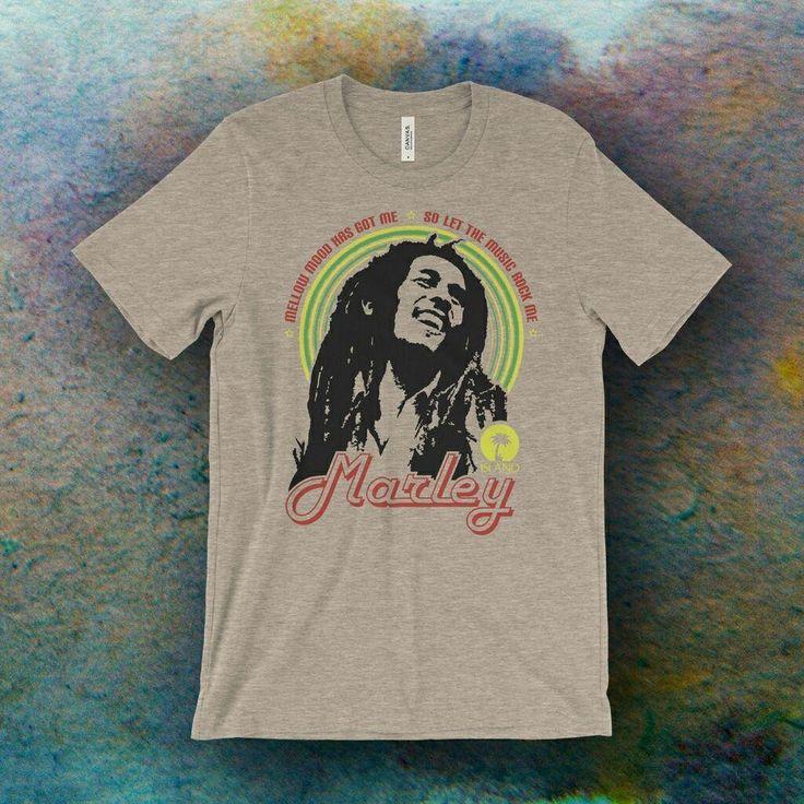 Bob Marley Inspired Mellow Mood Screen Printed T-Shirt