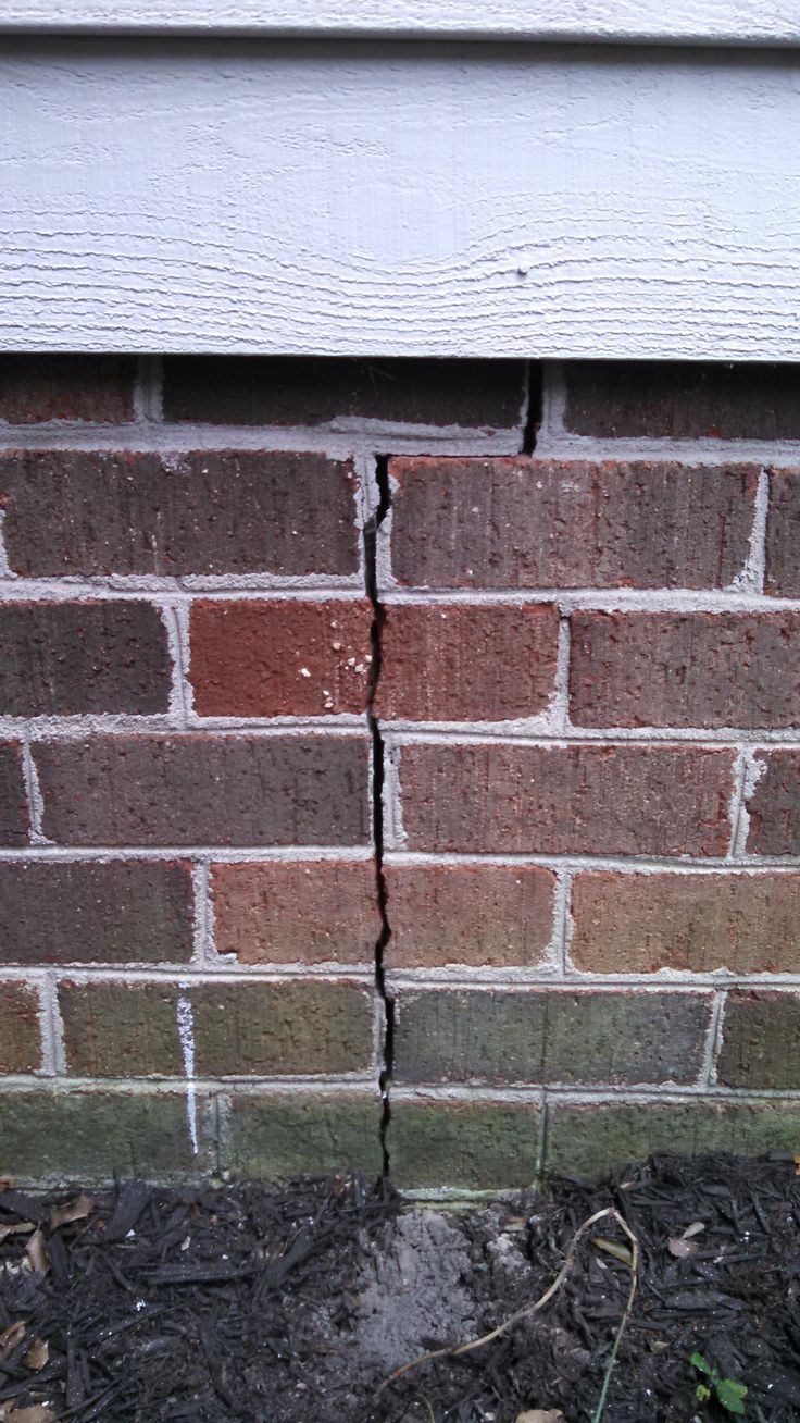 7 best repair cracks in brick walls images on pinterest brick i have a crack in the brick veneer of the exterior foundation wall of my solutioingenieria Gallery