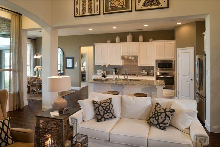 Highland Homes   Harvest 60s   Living Room   Argyle, TX   Plan 245