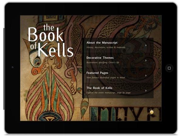 Book Of Kells dla iPada na Dzień Świętego Patryka.