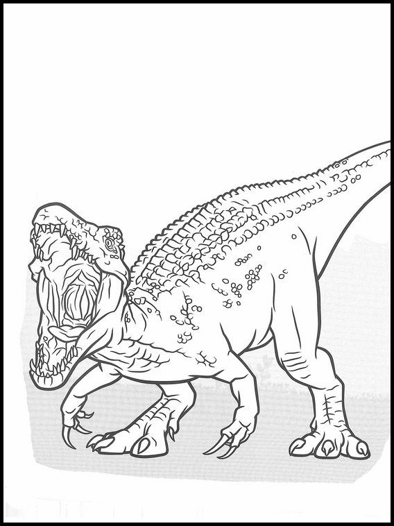 jurassic world coloring 21 in 2020 | dinosaur coloring
