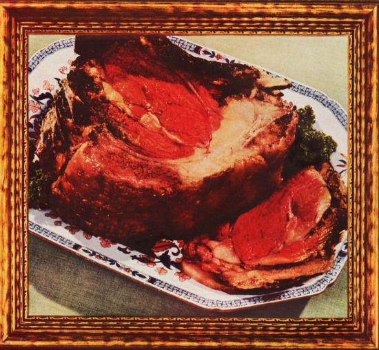 vintage photo meat framed