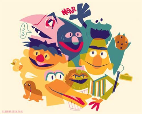 Sunny Day  Sweepin' the clouds away  On my way to where the air is sweet  Can you tell me how to get,  How to get to Sesame Street…  #GloriouslySunnyDayInTheMission: Sesamestreet, Illustration, Sesame Streets, T Shirts, Street Gang, Glen Brogan