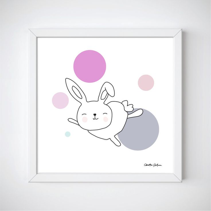 "Space Rabbits -ASTRA Illustration of a cute rabbit jumping around in space. ""ASTRA"" is a part of the Space Rabbits collection.  This poster is perfect for a nursery or a child's room.   #illustratör #illustration #rabbit #rbbits #space #planets #cute #poster #prints #kidsroom #kidsposter #children #kidsroominspo"
